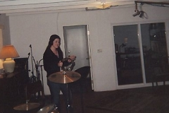 Mollie Boltinghouse playing tambourine