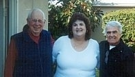 Lloyd Ulyate, Debbie Boltinghouse and Dick Nash (at Hoyt's Garage)